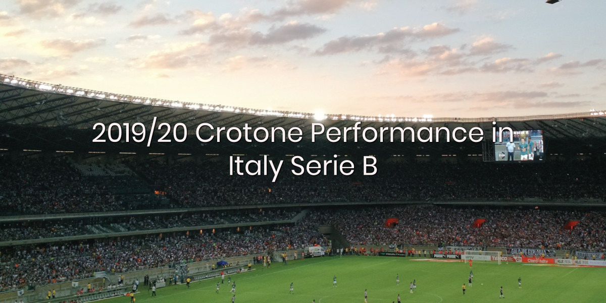 Crotone Performance in 2019/20 Italy Serie B