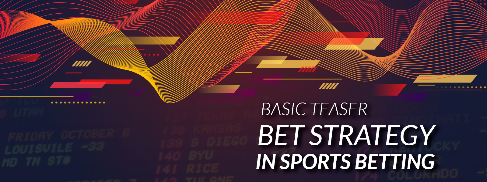 Basic Teaser Bet Strategy in Sports Betting